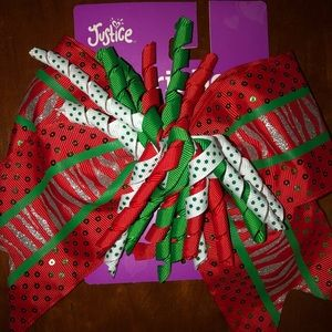 Justice Christmas Spirit Bow